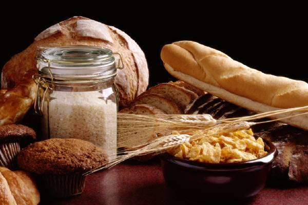 fiber: bread, cereal, grains